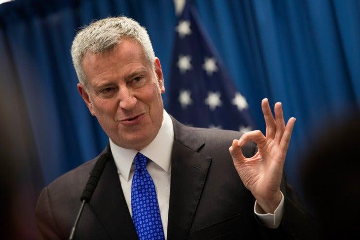 Picture of NYC Mayor Bill de Blasio