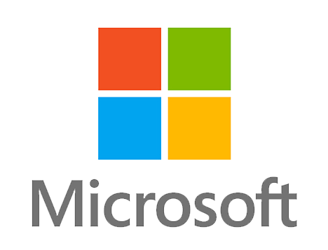 Microsoft's icon, four squares, each a different color