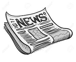 A cartoon image of a newspaper