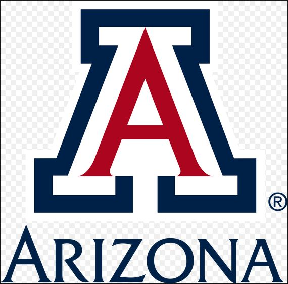 Univ of Arizona's logo, a big red letter outlined in black and white